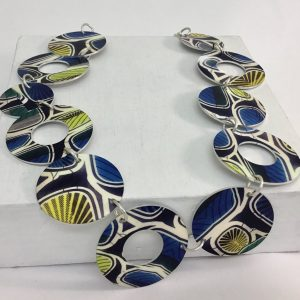 'African Print' Link Necklace Monica Boxley