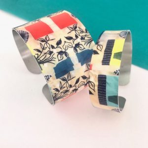 Aluminium Printed 'Vintage Fabric' Bangle