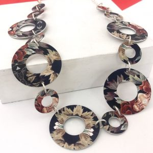 'Autumn Floral' Link Necklace Monica Boxley