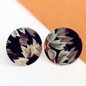 Autumn Floral disc stud earring Monica Boxley