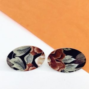 'Autumn Floral' oval stud earring Monica Boxley
