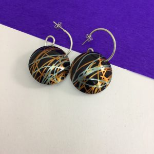 'Scribble' hoop earrings Monica Boxley