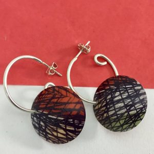 'Vintage Lines' hoop earrings Monica Boxley